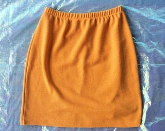 Vintage Yellow Knit Skirt