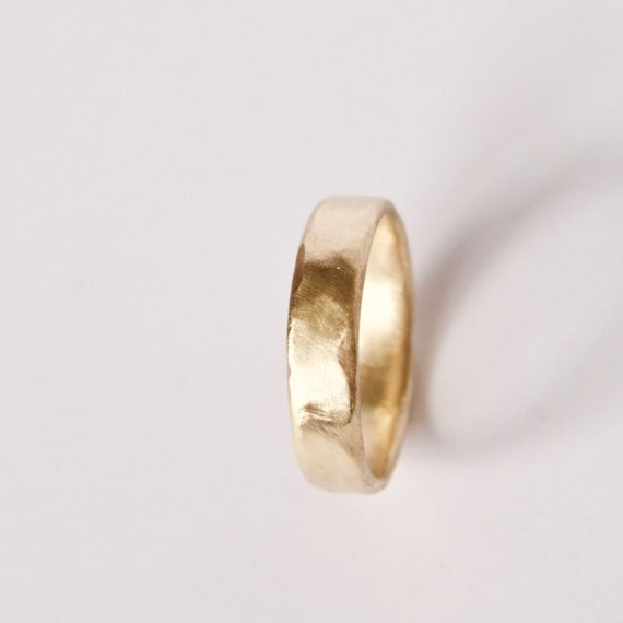Organic Shape Gold Ring - 18 Carat Gold Molten Ring
