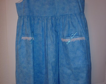 Soft Blue Girls' Dress