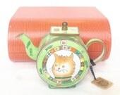 Charlotte di Vita teapot  Whiskers  miniature enamel teapot