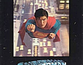 1978 SUPERMAN THE MOVIE Official Movie Program Christopher Reeve