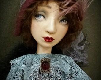 Boudoir doll - art doll OOAK - bed doll - Handmade doll
