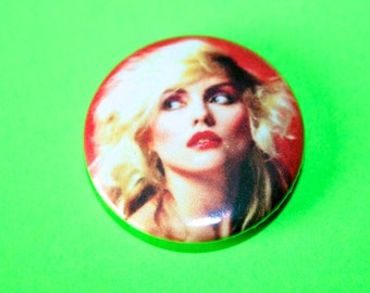 Gorgeous Vintage Style Blondie Debbie Harry Button Pin Badge