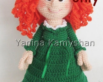 Maidy doll, amigurumi crochet pattern