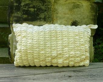 Shell Clutch Purse - Crochet Ecru
