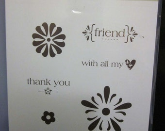 Stampin' Up! With All My Heart Clear Mount Stamp Set