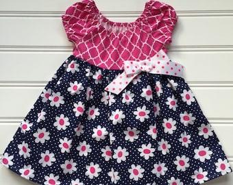 Dress for Toddler, Toddler Girl Dress, Party Dress for Girl, Little Girl Dress Toddler Party Dress, Girl Summer Dress, Daisy Dress, 2T 3T 4T