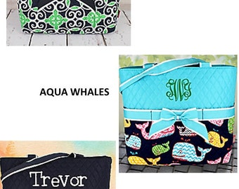 DIAPER BAGS --Monogrammed/ Baby Gift/  Boys/ Girls--New Colors!