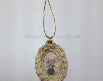 Nursery-Versery Heather Ross Mouse Portrait Ornament