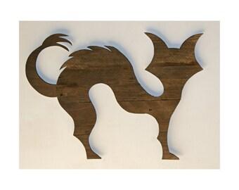 Halloween Cat - Reclaimed Wood