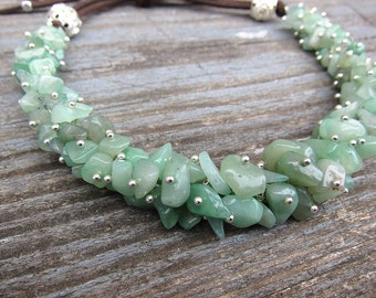 Jade necklace Gemstone Necklace choker Nephrite necklaces Bohemian necklace Aries birthstone Healing jewelry Mint necklace Gift idea for her