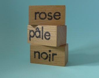 9 cm wooden words