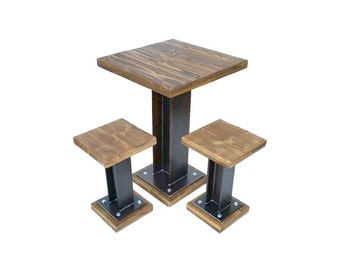 Industrial Extra Heavy Duty Two Seater Structural Table Set