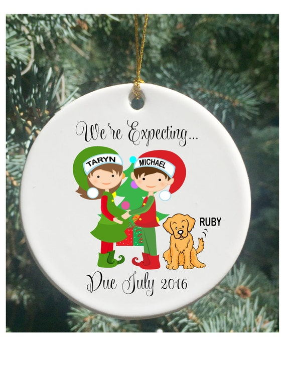 Personalized Christmas Ornaments Expecting Parents by ...