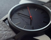 Watch | Leather watch | Mens watch | Womens watch | Gift for him | Unisex watch | Stainless steel watch with tailored leather strap.
