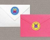 Return Address Label - Birthday Themed // Custom Sticker // Personalized Return Address Label // Custom Birthday Return Address Label