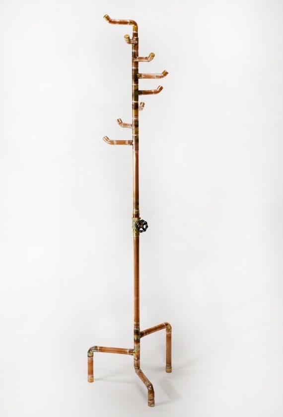 Free Standing Coat Rack Copper Coat Tree With 8 Hooks