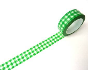 Washi Tape green squares
