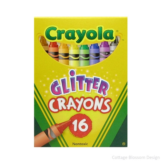 Crayola Glitter Crayons Crafts For Kids Adult Coloring Book