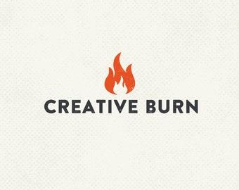 Pre made logo, Fire logo, Light logo, Identity design, Professional business branding, Basic branding