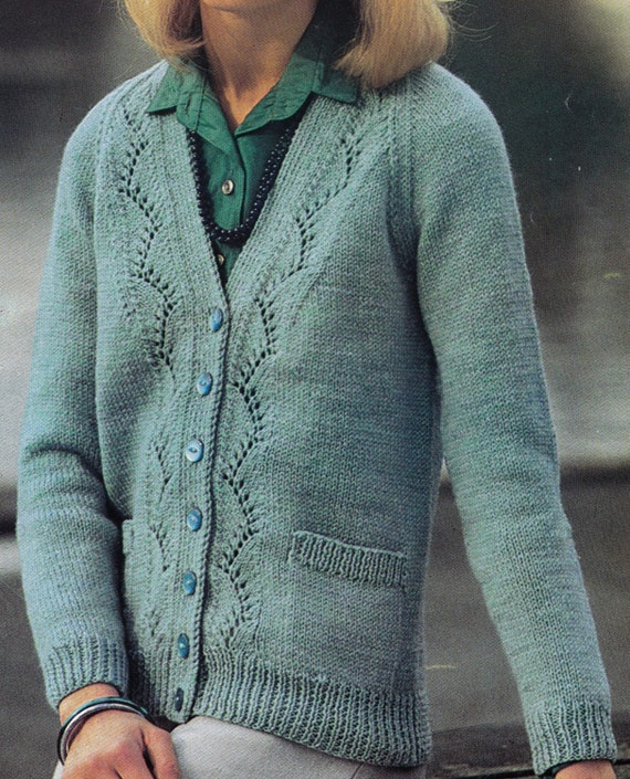 Fuller Figure Vintage Knitting Pattern by LucysPatternBox on Etsy