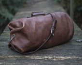 Leather Duffle Bag - The Gunnar Duffle - Military Style Duffel