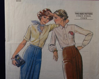 Vintage Sewing Pattern Style 2958 for a Woman's Skirt in Size 10