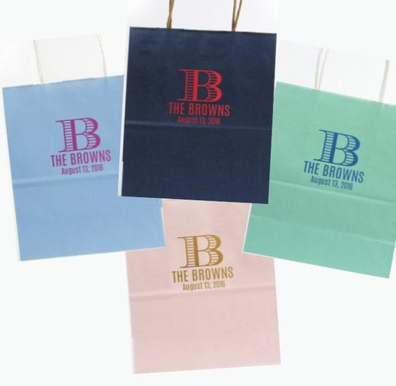Wedding Welcome bag, party favor bag, rehearsal dinner bag, custom bag, reception bag, personalized paper bag, shopping tote