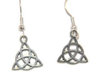 Celtic Triquetra Earrings, Trinity Knot Earrings, Celtic Knot Earrings, Celtic Earrings, Celtic jewelry
