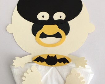 Baby Shower Baby Superhero Bat man Baby Shower Napkins Baby Shower Decor