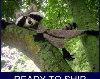 Ready to Ship! - - Raccoon Blankie Buddy  - Ships next day