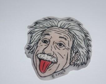 Einstein Tongue Pin