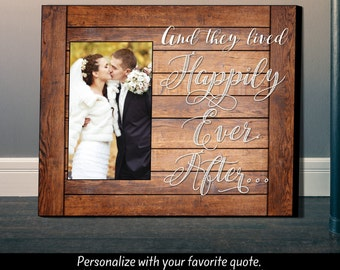Personalized Picture Frame, Unique Wedding Gift, Anniversary Gift, Picture Frame, Personalized Frame,