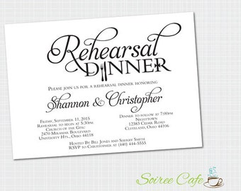 Rehearsal Dinner Invitation {Digital File} Rehearsal Invite