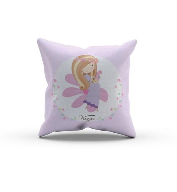 Virgo Girl Zodiac Pillow, Nursery Pillow,Throw Pillow, Kids Throw Pillow, Children s Horoscope ...