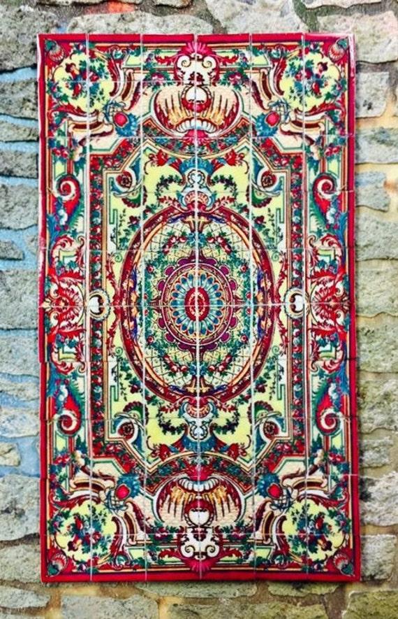 Dollhouse Miniature Ceramic Tile Persian Floor Tile