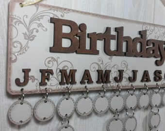 Birthday calendar board family and friends special dates to remember