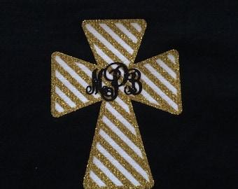 Monogrammed Cross T-Shirt, Personalized Shirt