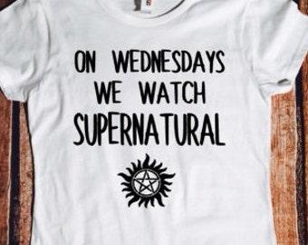 On Wednesdays we watch Supernatural, sassy tshirt, Supernatural, Sam, Dean, Winchester, tmblr