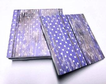 Polka Dot Purple Coasters - Polka Dot Decor - Home Decor - Drink Coasters - Tile Coasters - Ceramic Coasters - Table Coasters