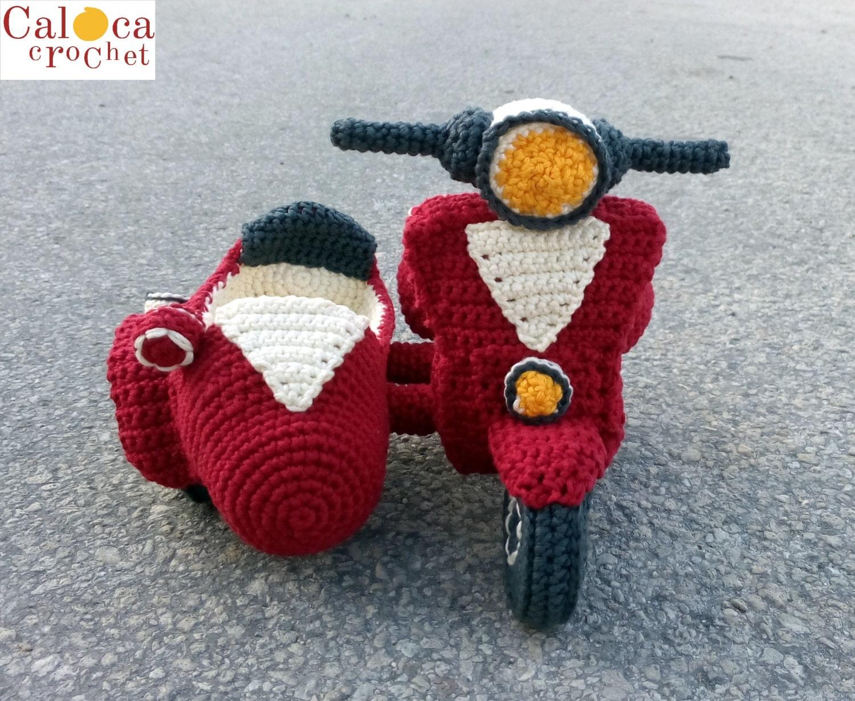 Amigurumi Patterns Cars : Sidecar vespa pattern amigurumi crochet by caloca