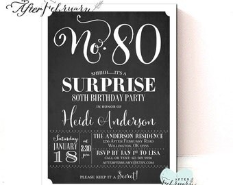 Any Age Surprise Birthday Party Invitation Adult Birthday Surprise Party Invitation Printable No.321