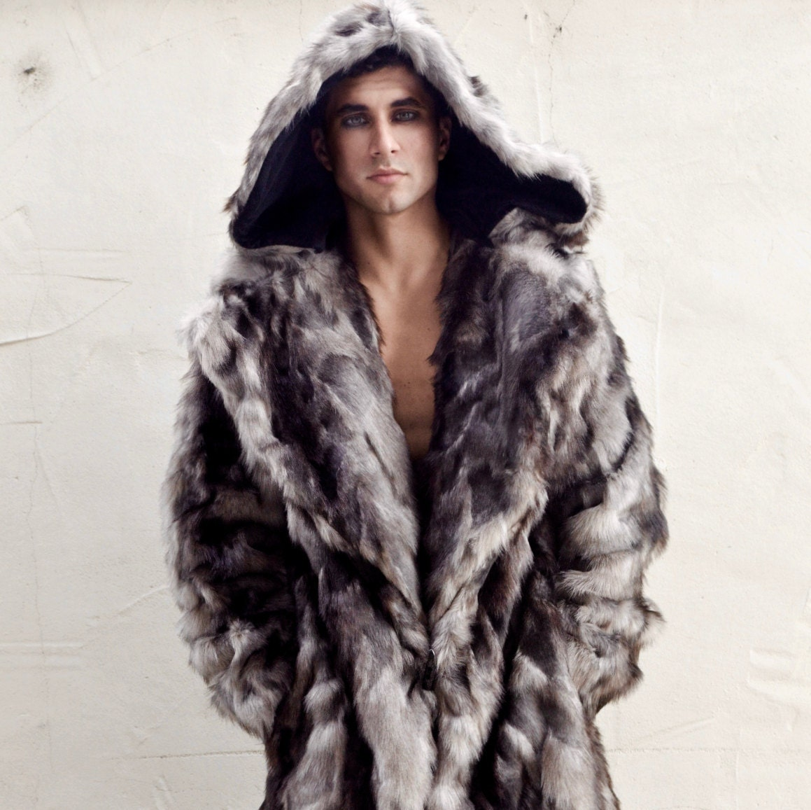 Burning Man Men's Faux Fur Vandal coat with