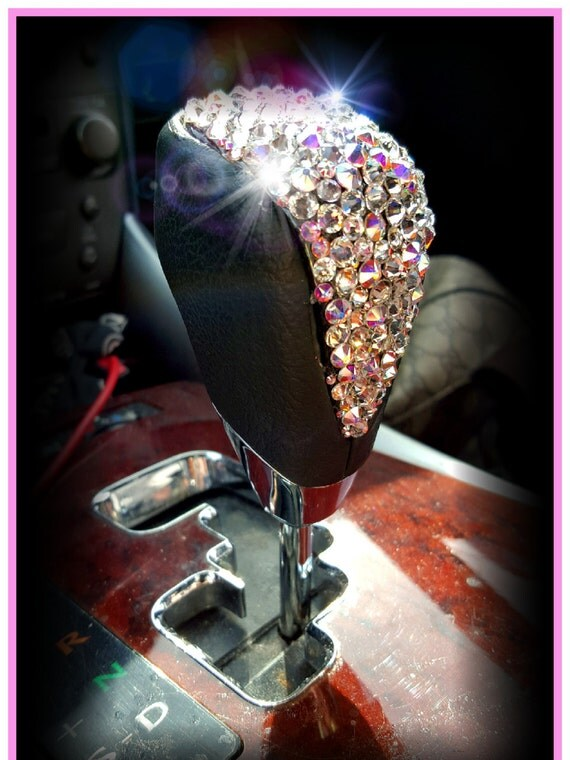 universal car auto accessory bedazzled super bling iced by