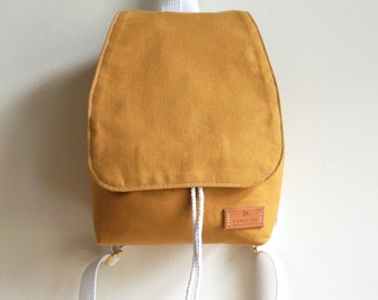 Mustard Yellow Canvas Backpack