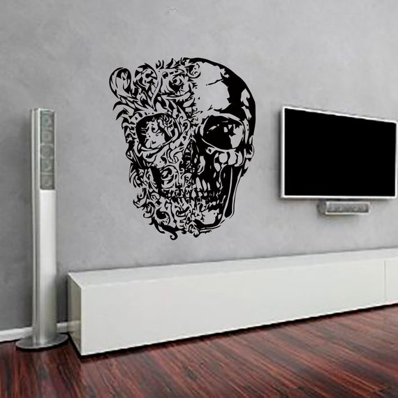 Https Www Etsy Com Listing 224663722 Skull Wall Decals Vinyl Decal Sticker