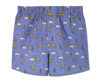Boxer shorts for men blue Dogginlove