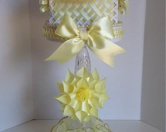 Yellow baby shower centerpiece, girls baby shower centerpiece
