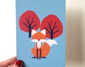 Foxy Friend Postcard