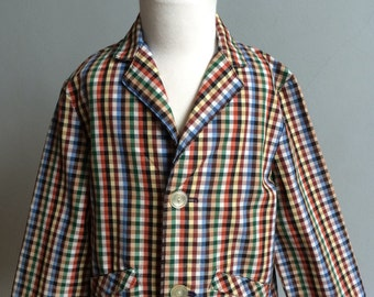 Vintage Boys Checked Jacket